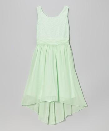 Speechless Mint Sequin Hi-Low Dress - Girls