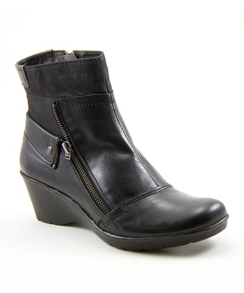 Black Happening Wedge Boot