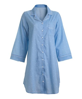 Chambray Dot Sleepshirt