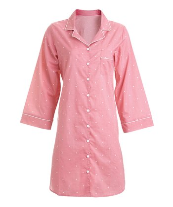 Coral Dot Sleepshirt