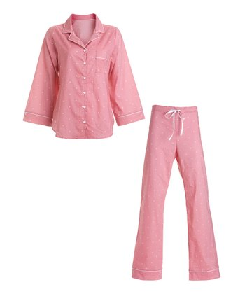 Coral Dot Pajamas