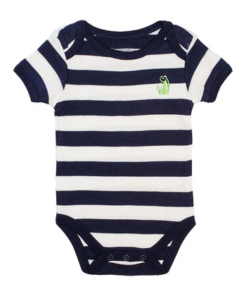 Navy & White Stripe Bodysuit - Infant