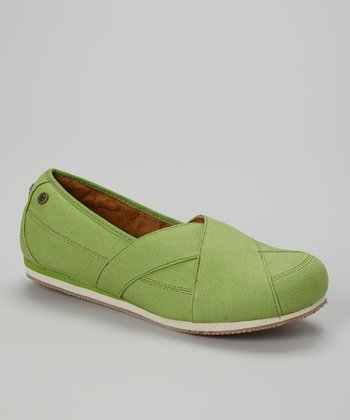 Green Sport Slip-On Shoe