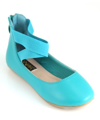Anna Shoes Turquoise Pam Flat