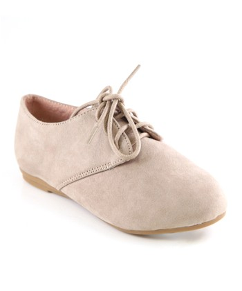 Anna Shoes Taupe Oxford Dress Shoe