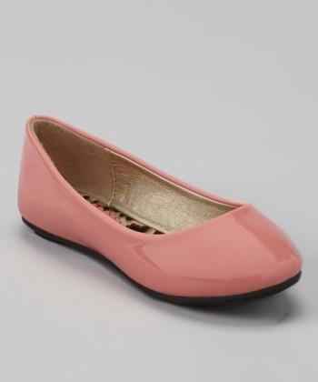 Anna Shoes Blush Patent Flat