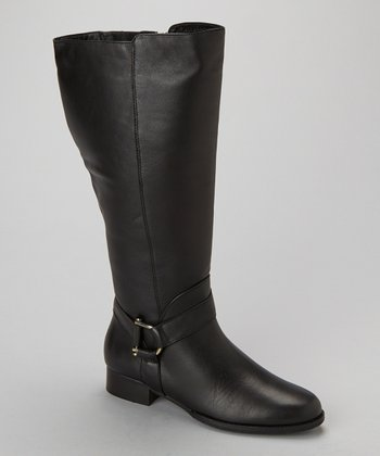 Black World Extra-Wide-Shaft Boot