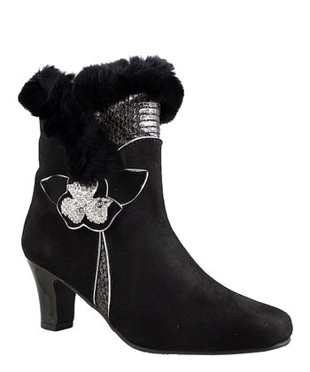 Black Suede Zumba Boot