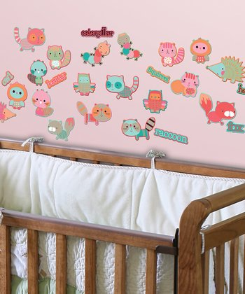 Friend GlitterPuff Wall Decal Set