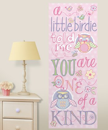 Pink Sweet Owls Canvas Art