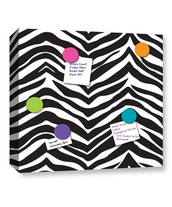 Black & White Zebra Magnetic Memo Board