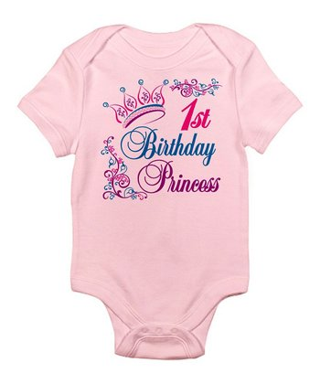 Pink '1st Birthday Princess' Bodysuit - Infant