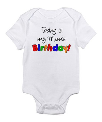 White Mom 'Birthday' Bodysuit - Infant