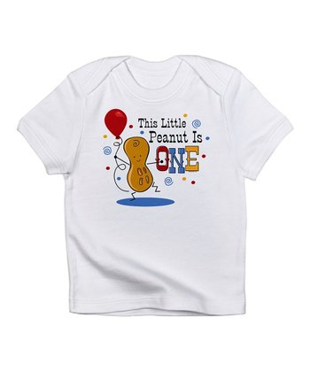 White 'Peanut Is One' Tee - Infant