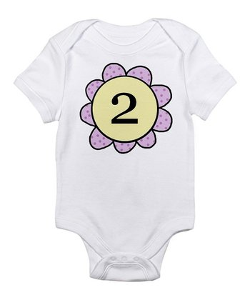 White Pedal '2' Bodysuit - Infant