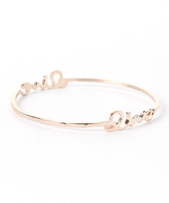 Rose Gold 'Live' Bangle