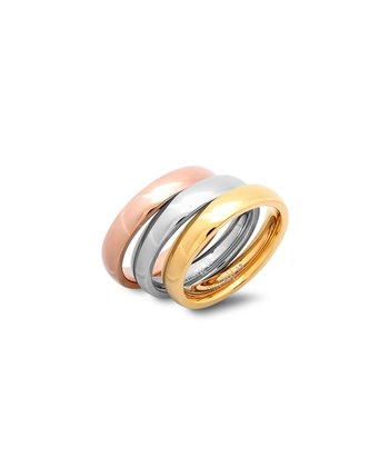 Tricolor Stackable Ring Set