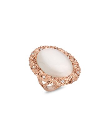 Rose Gold & Simulated Diamond Ring