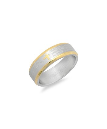 Gold & Silver Our Father Prayer Ring
