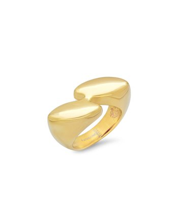 Gold By-Pass Ring