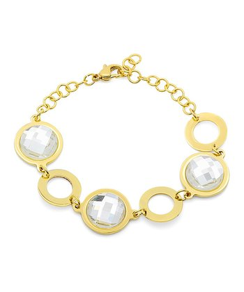 Gold & Simulated Diamond Bracelet