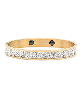 Gold & Simulated Diamond Bangle
