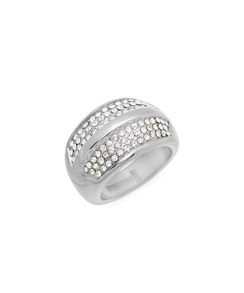 Simulated Diamond & Stainless Steel Ring
