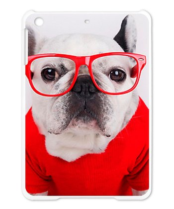 French Bulldog Glasses Case for iPad mini