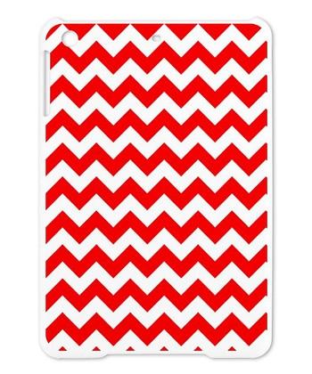 Red & White Zigzag Case for iPad mini