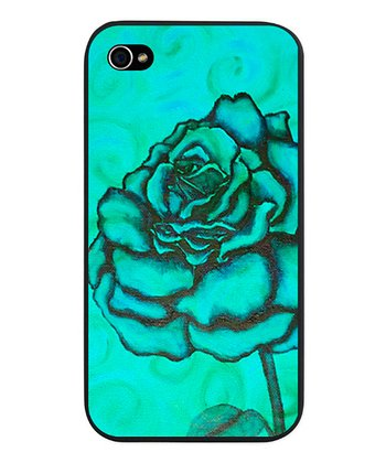 Teal Rose Snap-On Case for iPhone 4/4s
