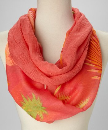 Orange & Green Tropical Infinity Scarf