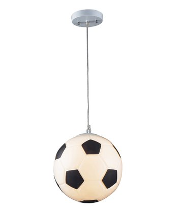 Antique White & Silver Soccer Ball Pendant Lamp