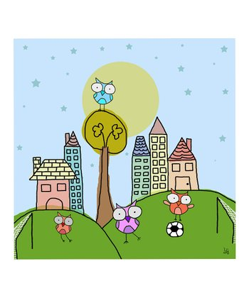 Turquoise Soccer Game Wall Art