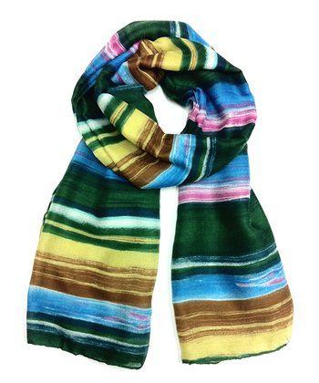 Blue & Green Stripe Scarf