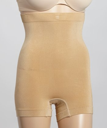 Nude Seamless High-Waist Boyshorts - Women & Plus