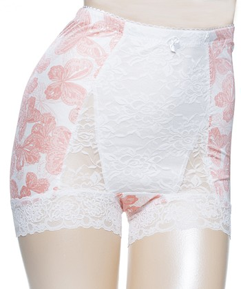 Pink Butterfly Pinup Girl High-Waist Boyshorts - Women & Plus