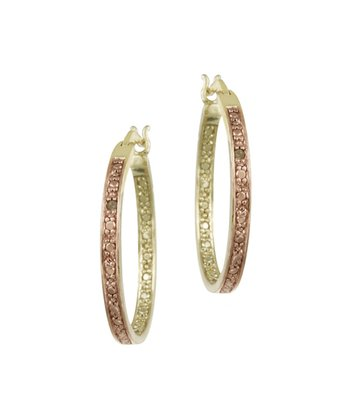 Champagne Diamond & Gold Medley Hoop Earrings
