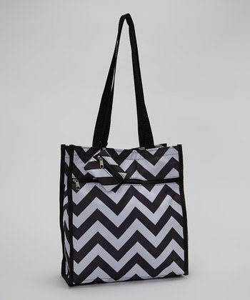 Black & White Zigzag Tote Bag