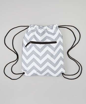 Gray & White Zigzag Sling Bag