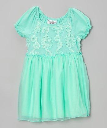 Gum Drop Floral A-Line Dress - Girls