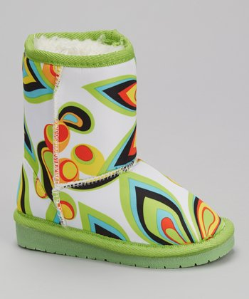 Green Retro Australian Boot