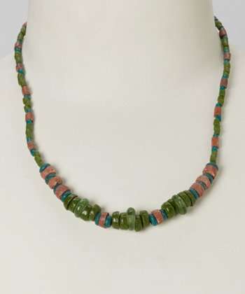 Green Down to Earth Necklace