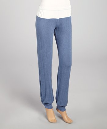 Denim Color Block Harem Pants