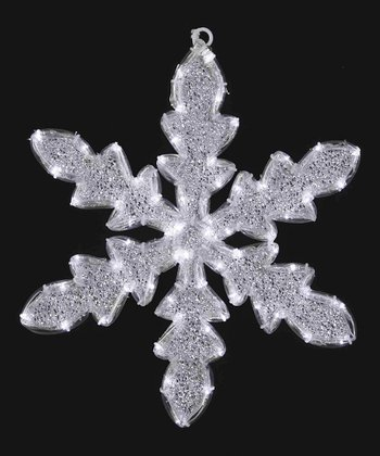 White & Silver 24'' Outdoor Snowflake Ornament