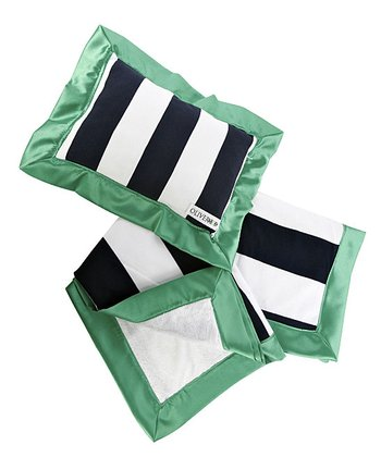 Kelly Green Stroller Blanket & Pillow