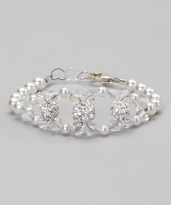 Pearl & Crystal Pave Bead Bracelet Made With SWAROVSKI ELEMENTS
