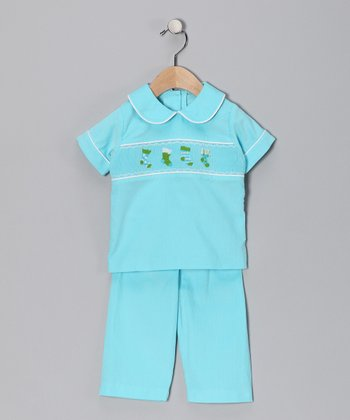 Turquoise Stocking Top & Pants - Infant, Toddler & Boys