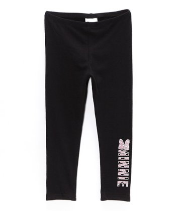 Black & Pink Minnie Leggings - Toddler & Girls