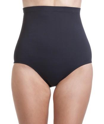 Black High-Waist Control Bikini Bottoms