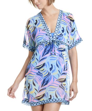 Mint & Light Blue Abstract Cover-Up